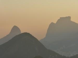 Pôr-do-sol carioca, visto do Pão-de-Açúcar