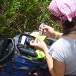 Medindo a glicemia antes da caminhada