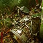 Restos mortais do avião da FAB.
